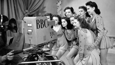 The Windmill Girls at an early rehearsal for post-war television; copyright PA Archive